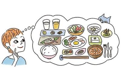 典型的な和食をベースに少しだけ欧米化が加わった食事が、理想となる昭和50年スタイル(NikkeiLUXEより)