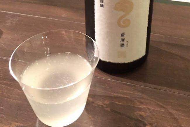 酵母にこだわる新政酒造「亜麻猫スパーク」