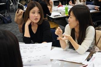 28歳の女性社員が将来のライフ設計を話し合った(損保ジャパン日本興亜の「みらい塾28」)