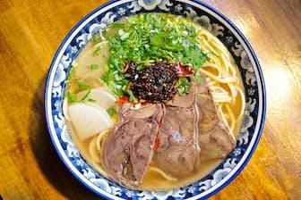 蘭州拉麺の専門店「金味徳」の「蘭州牛肉拉麺」