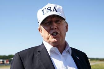 米国第一主義を掲げるトランプ政権の通商政策は一段と強硬になっている(7月8日、米ニュージャージー州)=AP