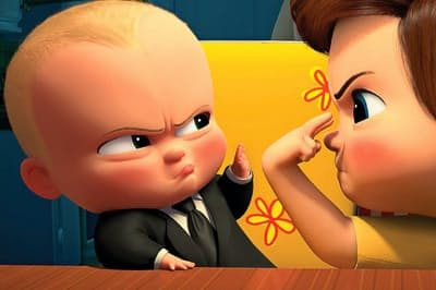『ボス・ベイビー』 少年ティムの元にやってきたボス・ベイビーは「赤ちゃんの人気を子犬から奪い返す」ことが任務だった(8月8日ブルーレイ+DVDセット発売/3990円・税別/NBCユニバーサル・エンターテイメント) (c)2018 DreamWorks Animation LLC. All Rights Reserved. (c)2018 Universal Studios. All Rights Reserved.