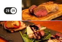 「29ON」は、低温調理されたジューシーな肉料理をコースで提供する