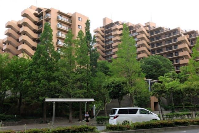 横浜市にあるAガーデン(仮名)。路線価は前年より2%上がった