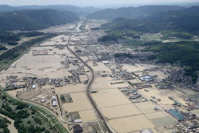 岡山県倉敷市真備町では洪水ハザードマップが予測した浸水区域と今回の浸水区域がおおむね同じだった