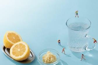 レモンショウガ炭酸水の「刺激」が交感神経のやる気を呼び覚ます