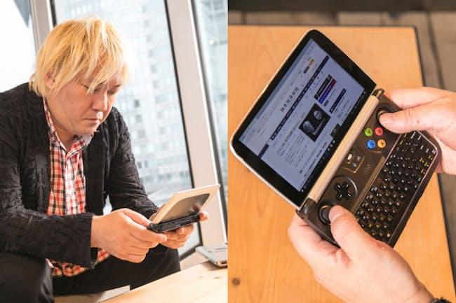 GPD WIN2は、ゲーム以外にもや動画閲覧やビジネスなど様々な用途に便利だと津田氏は話す
