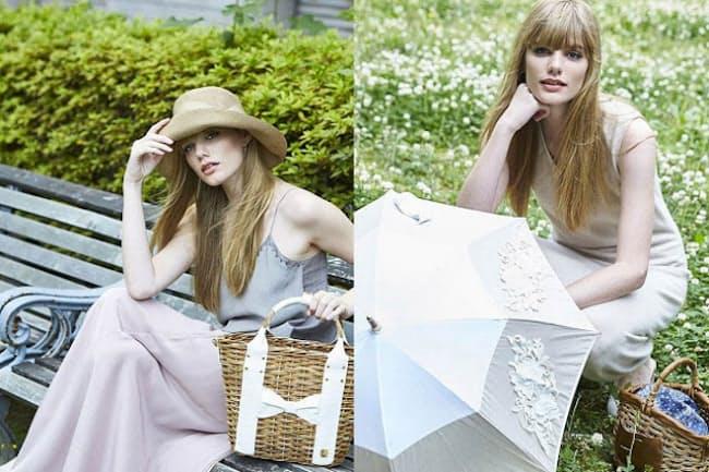 かごバッグ、帽子、日傘は夏小物の3点セット!