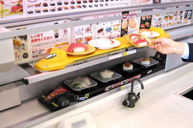 回転レーンをなくし、すべて専用レーンにした回らない回転寿司店(宇都宮市の「魚べい」上戸祭店)