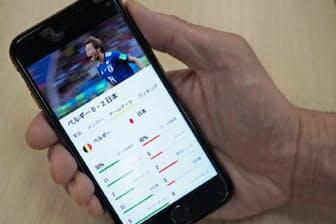 NHKはサッカーW杯の試合を観戦できるアプリを、スマホ向けに無償で提供した