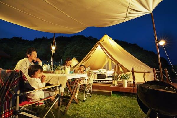 子供と楽しめる「ツインリンクもてぎ」の大型グランピングテント