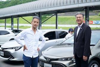 2018年1月にトヨタのミッドサイズ・ヴィークル・カンパニーのExecutive Vice Presidentに就任した中嶋裕樹氏(右)に小沢コージ氏が直撃した
