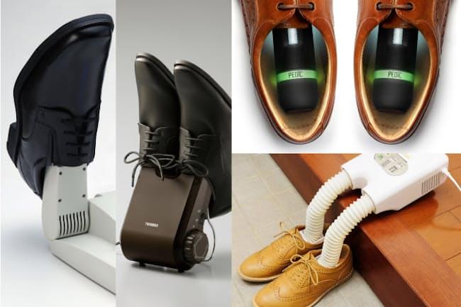 靴に入れて乾燥や脱臭、除菌などを行うシューズケア家電を紹介