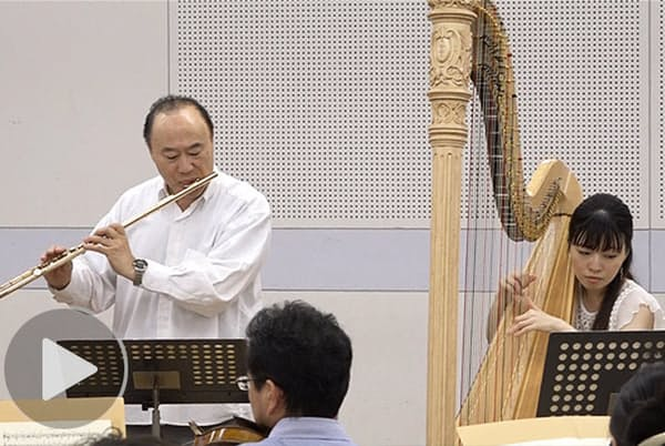 フルート工藤重典とハープ山宮るり子の協奏曲