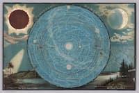 1887年に教材として制作された地理教材「ヤギーの地理学習」。金具を外すと驚きの仕掛けが!(COURTESY DAVID RUMSEY MAP COLLECTION)