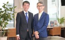 深沢直仁ステージ事業部事業部長(左)と長島聡社長