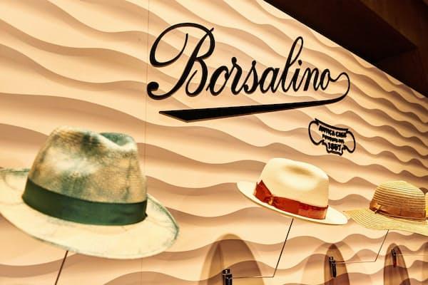 新体制で経営再建をすすめるボルサリーノは今後、日本での投資も積極化する。7月には東京・六本木で大規模な展示会を開いた