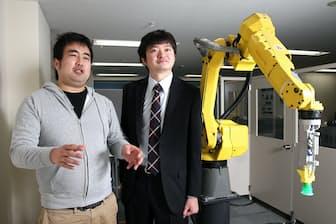 日本唯一のユニコーンとなったプリファード・ネットワークスの西川徹社長(右)と岡野原大輔副社長