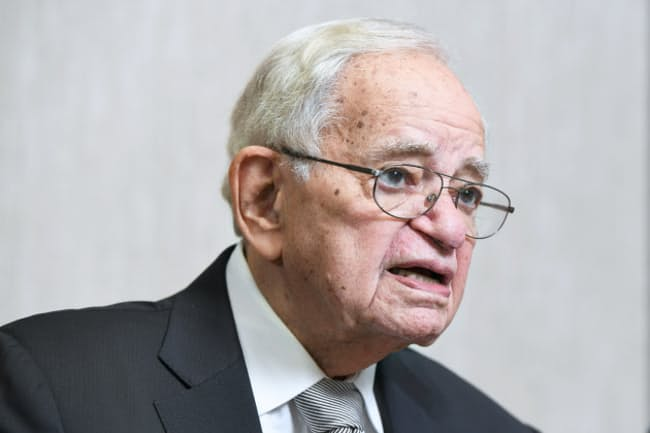 「金融先物の父」と呼ばれる米シカゴ・マーカンタイル取引所(CME)グループ名誉会長のレオ・メラメド氏