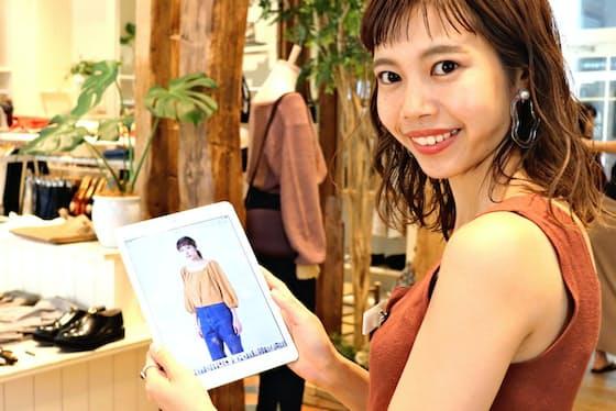 フォロワー数トップの店員、加藤真梨さんは、まねしやすい着こなしで支持を受けている
