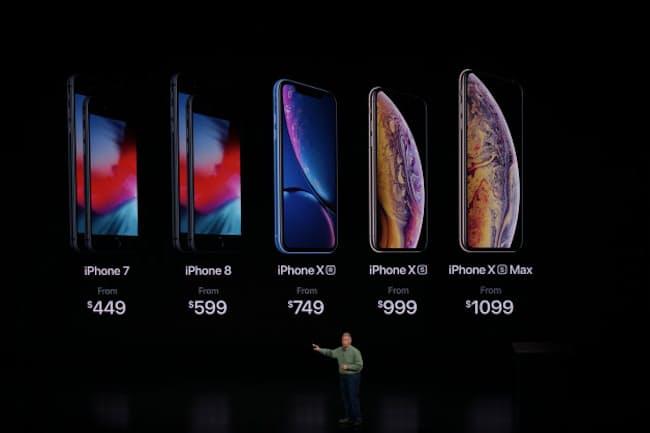 iPhone XS Maxの価格は米国で1099ドルから。日本では12万4800円(税別)からとなった(写真:西田宗千佳)