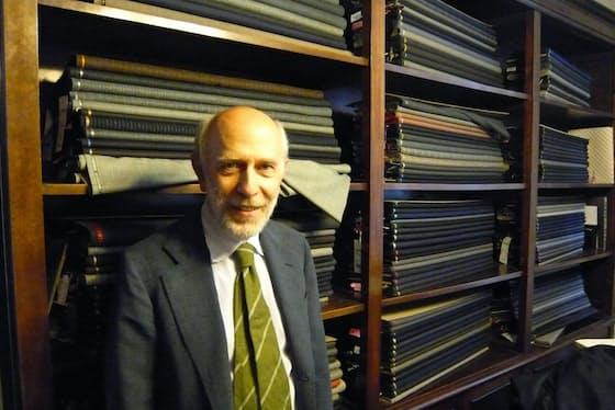 フィレンツェにある「サルトリア・セミナーラ」の店主、ジャンニ・セミナーラさん