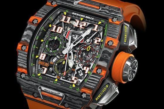 リシャール・ミルの「RM 11-03 オートマティック フライバッククロノグラフ マクラーレン」