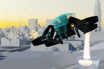 空飛ぶクルマ「スカイドライブ」の完成予想図(提供:カーティベーター)