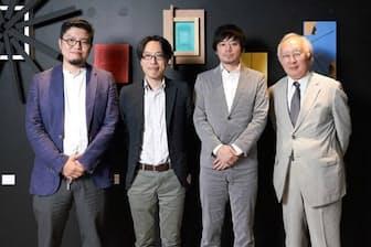 座談会に参加したのは左から、Takramの櫻井稔氏、アクセンチュアの保科学世氏、畦地直樹氏、音楽家の大山平一郎氏の4人