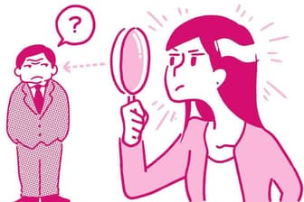 ネガティブな面ではなく、あえてポジティブな面を見るクセ付けを(nikkei WOMAN Onlineより)=イラスト/北村みなみ