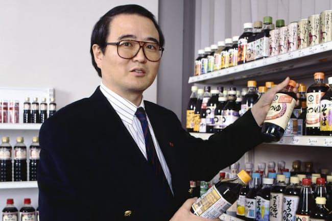 つゆ・たれを軌道に乗せる難題に挑んだ(1996年3月)=村田和聡撮影