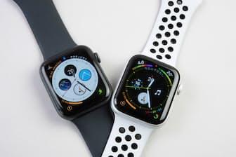 新登場のApple Watch Series 4。白いバンドはNIKE+モデル