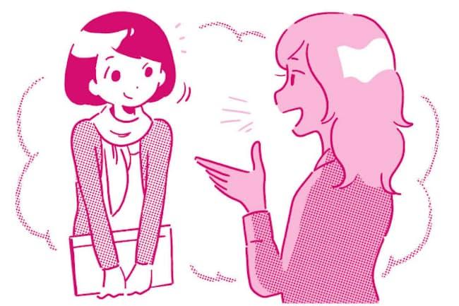 「聞く=同意」ではないと心得て、ボスマネジメントで上司と協同関係を結びましょう(nikkei WOMAN Onlineより)=イラスト/北村みなみ
