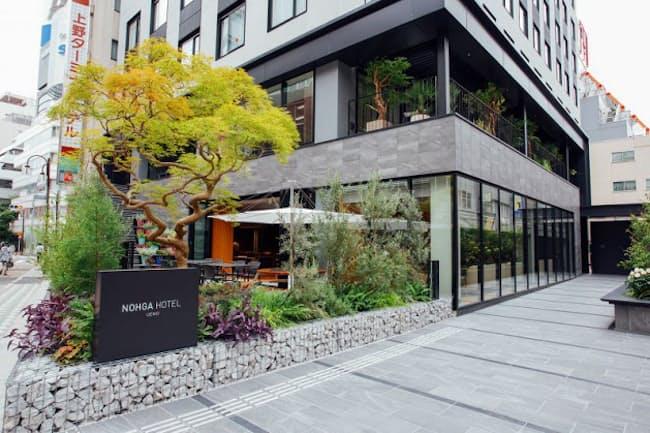 野村不動産グループの直営ホテルブランド「ノーガホテル」1号店。2018年11月1日、東京・東上野に開業した
