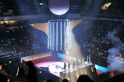 開幕した卓球の「Tリーグ」(10月24日、東京・両国国技館)
