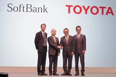 ソフトバンクは、自動運転など次世代の移動サービス(MaaS)を見据えてトヨタ自動車と提携した