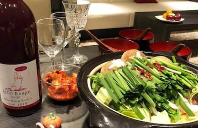 無ろ過ワインとモツ鍋は秋に合う