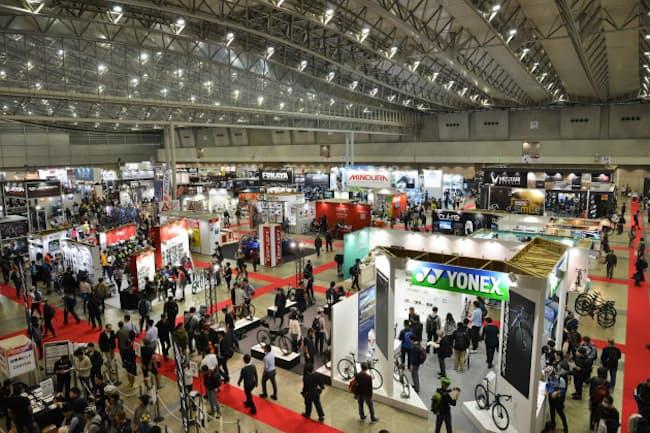 「サイクルモード・インターナショナル2018」の会場。出展ブランドの最新自転車を専用コースで試乗できることもこのイベントの大きな特徴だ