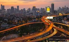 タイの首都バンコクは急速に都市化が進んだ