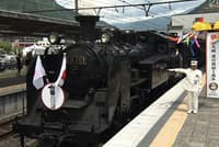 SL大樹は鬼怒川温泉駅から下今市駅までの約13キロを30分ほどで走る