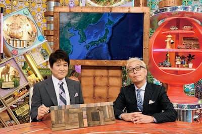 MCの所ジョージ(右)の、一般の人への愛情あるコメントが光る。レギュラーパネラーは林修。日曜午後7時58分/ABCテレビ・テレ朝系