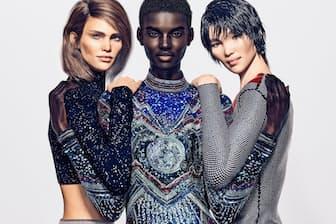 仏ブランド「バルマン」はCGや3D技術で作成したバーチャルモデル3人をキャンペーンに起用した(左から白人のマーゴット、黒人のシュードゥ、アジア人のジィー)