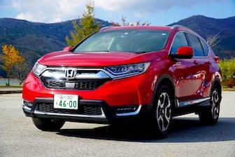 2年ぶりに国内復活した5代目「CR-V」。価格は323万280~436万1040円。写真はガソリン車の「EX」。上級モデルに「EX・Masterpiece」がある