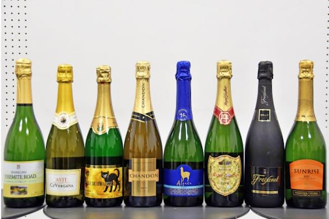 イトーヨーカ堂の店舗で購入して試飲したスパークリングワイン8種