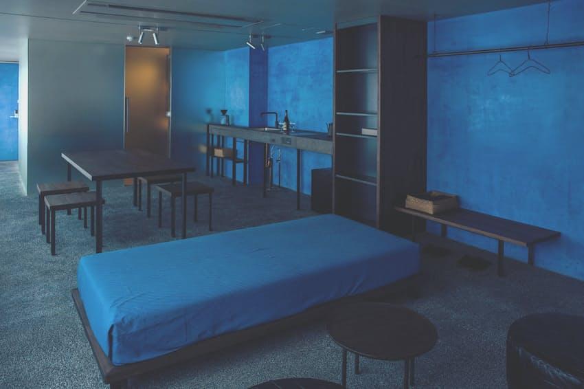 青をテーマカラーにしたマルダの宿の「青」の部屋