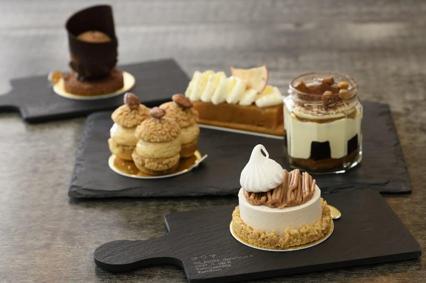 「ヌメロサンク・パリ」のケーキ各種