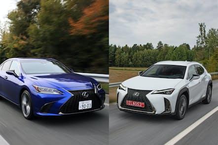 「2018年後半にレクサスが投入した2台の新モデルには様々な示唆が含まれている」と渡辺氏がいう理由は(写真左がES、右がUX)