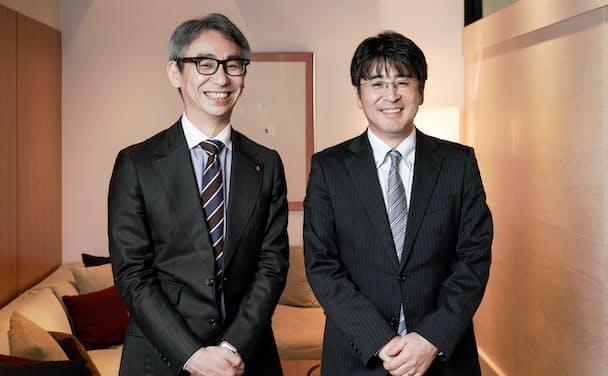 澤田洋祐FA・ロボット事業部技術部製品企画室室長(右)と長島聡社長