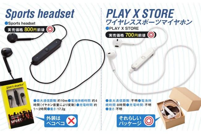 アマゾンに数多く並ぶブルートゥースイヤホンの中で、ひときわ低価格だったのが、「PLAY X STORE スポーツマイヤホン」だ。価格は700円前後と非常に安価。「 Sports headset」も、アマゾンで約800円の激安価格で販売されていた