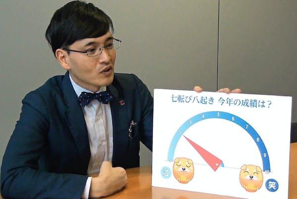 元お笑いトリオの個人投資家、井村俊哉さんに2018年の運用成績を尋ねると10段階で「2」だった
